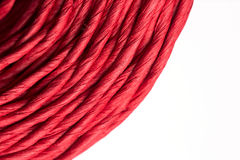 Roll of red rope Stock Images