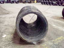 Roll of reinforcement wire. In fabriek Royalty Free Stock Photos