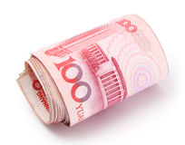 Roll of Renminbi royalty free stock photo
