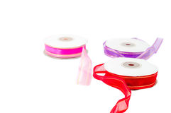 Roll of ribbon on white background Stock Photography