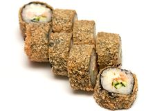 Roll rice Nori fish soy sauce Chinese isolate royalty free stock photos