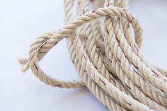 Roll of rope for for a bundle Stock Image