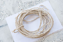 Roll of rope for for a bundle Royalty Free Stock Photos