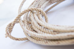 Roll of rope for for a bundle Stock Photo