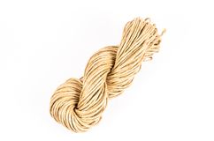 Roll of rope burlap isolated on white background Stock Images