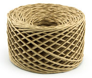 Roll of rope isolated stock photo