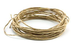 Roll of rope isolated Royalty Free Stock Image