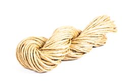 Roll of rope texture,burlap Stock Image