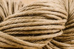 Roll of rope texture,burlap Stock Photography