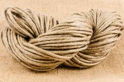 Roll of rope texture,burlap Stock Images