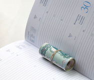 Roll rubles Stock Image