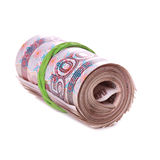 Roll of russian money Royalty Free Stock Image