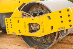 Roll of sand compactor Stock Images