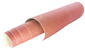 Roll of Sandpaper Stock Image