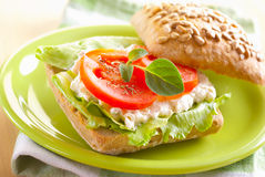 Roll sandwich Stock Photography
