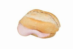 Roll with sausage Royalty Free Stock Photography