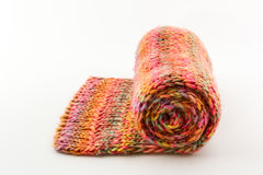 Roll of scarf colorful. Royalty Free Stock Photo
