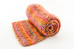 Roll of scarf colorful. Stock Images