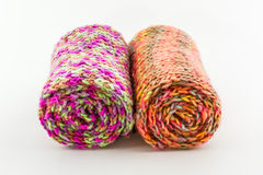 Roll of scarf colorful. Stock Photography