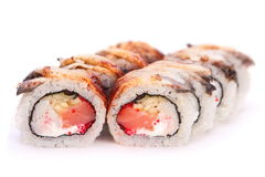 Roll with seafood Royalty Free Stock Photos