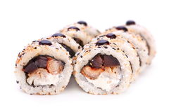 Roll with seafood Royalty Free Stock Photography