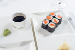 Roll are served on the table with Stock Image