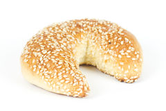 Roll with sesame seed Stock Image