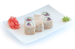 Roll with sesame seeds Stock Photography