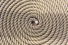 Roll of a ship rope background pattern Royalty Free Stock Photo
