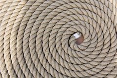 Roll of a ship rope background pattern Royalty Free Stock Images