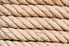 Roll of ship ropes Stock Photo