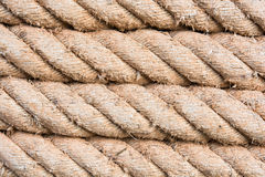 Roll of ship ropes Stock Images