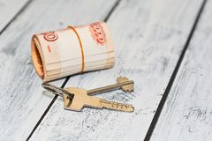 Rental payment or accommodation deposit idea Stock Photography