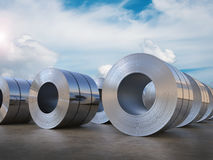 Roll of steel sheet. 3d rendering roll of steel sheet Stock Photo