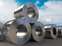 Roll of steel sheet. 3d rendering roll of steel sheet Stock Photography