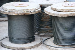 Roll of steel wire Royalty Free Stock Image