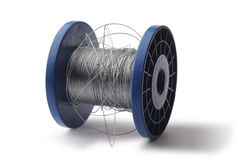 Roll of steel wire royalty free stock images
