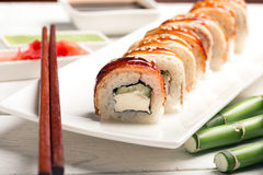 Roll sushi Drago Royalty Free Stock Photos