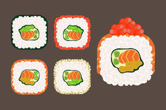 Roll sushi set Royalty Free Stock Photos