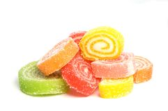 Roll sweet jelly Royalty Free Stock Photography