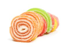 Roll sweet jelly Royalty Free Stock Photos