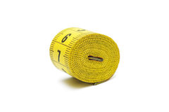 Roll of tape measure isolated Royalty Free Stock Images
