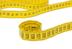 Roll of tape measure isolated Stock Image
