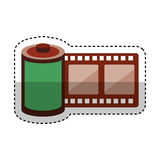 Roll tape record isolted icon Stock Photos