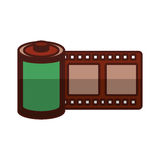 Roll tape record isolted icon Royalty Free Stock Image