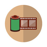 Roll tape record isolted icon Royalty Free Stock Photography