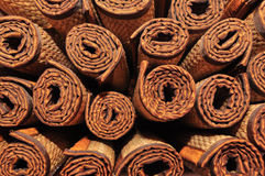 Roll texture of brown mat Stock Photography