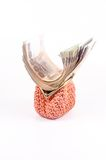 Roll of thai banknote in wallet Royalty Free Stock Images