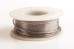 Roll tin wire Royalty Free Stock Photos