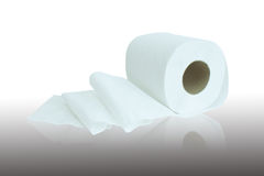 Roll of tissue paper. On a white background Stock Image